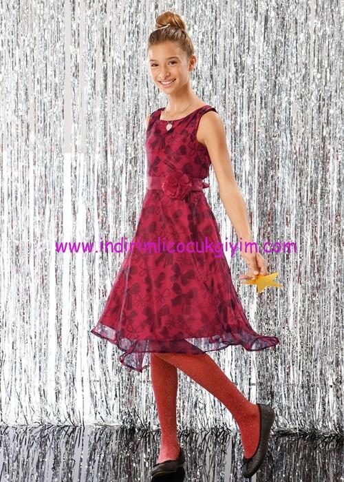 Bonprix kız çocuk kalın askılı abiye elbise
