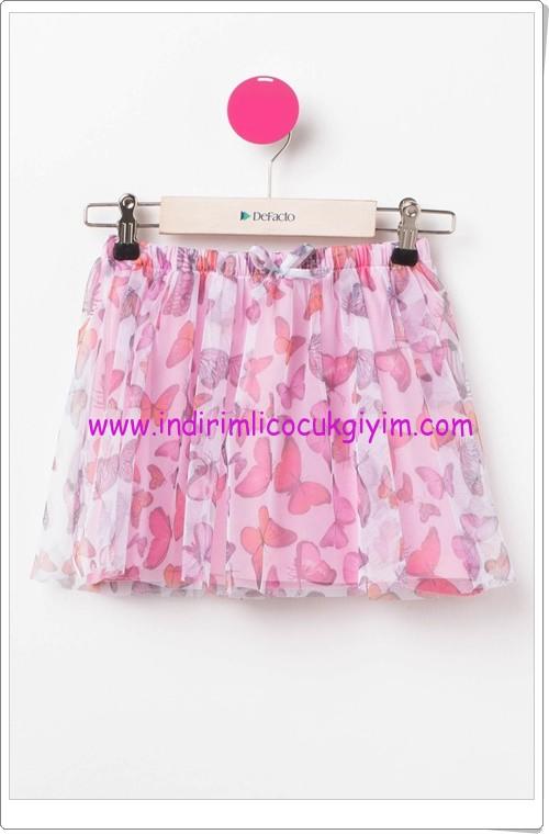 DeFacto kız çocuk kelebek desenli elbise-25 TL