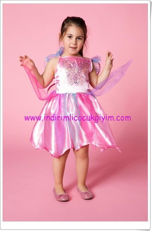 DeFacto kız çocuk pembe kelebek kostümü-80 TL