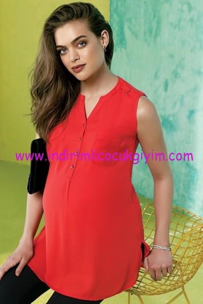 Ebru Maternity kırmızı hamile tunik