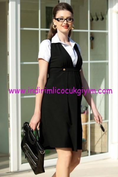 Ebru Maternity klasik hamile elbisesi