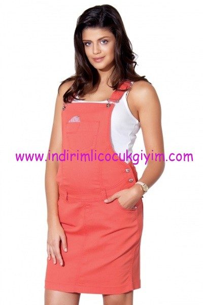 Ebru Maternity nar çiçeği hamile salopet elbise