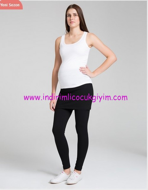 Etekli siyah hamile yoga taytı-95 TL