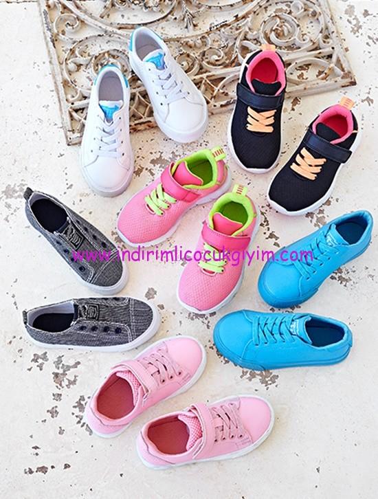 HM 2016 kız çocuk renkli spor ayakkabıları