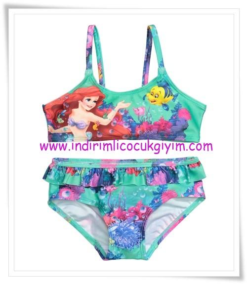 HM-kız çocuk mermaid desenli bikini-35 TL