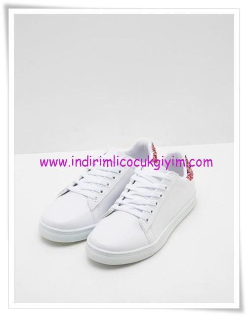 Koton kız çocuk beyaz bağcıklı ayakkabı-50 TL