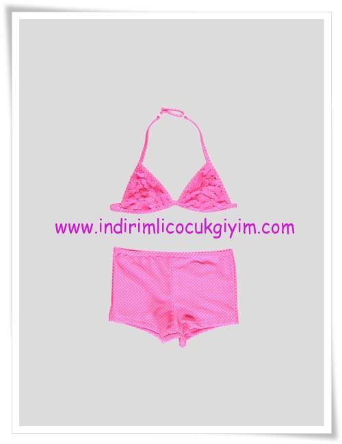 LCW kız çocuk pembe şortlu bikini-30 TL