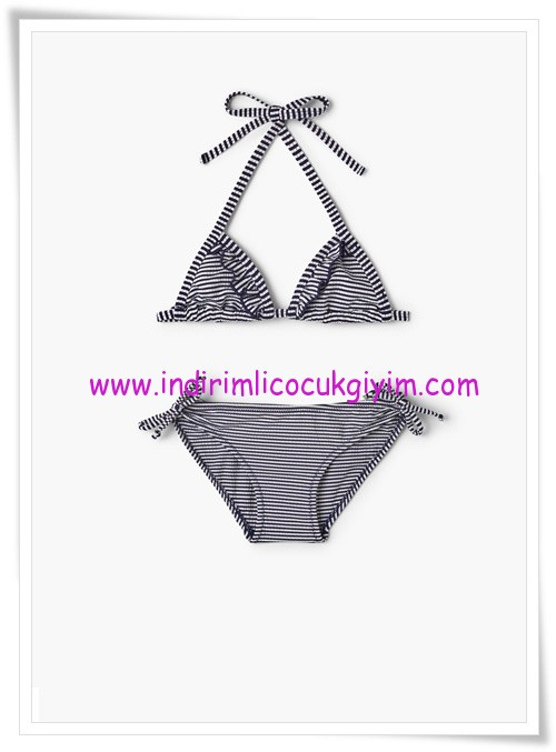 Mango kız çocuk çizgili bikini-66 TL