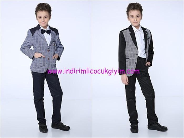 Tozlu Giyim çizgili çocuk takım elbise modelleri