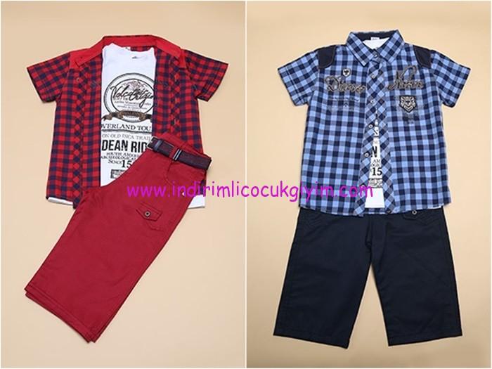 Tozlu Giyim erkek çocuk gömlek-pantolon takımları