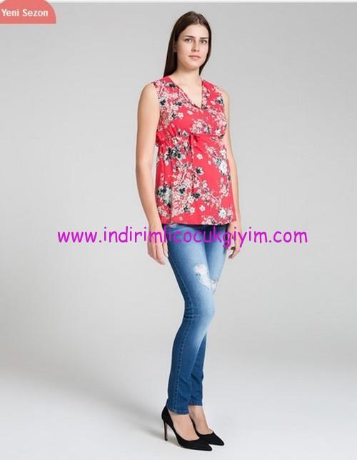Yırtık hamile kot pantolonu-140 TL