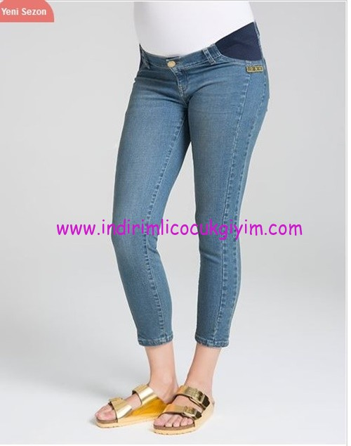 Yama detaylı hamile kot pantolonu-155 TL
