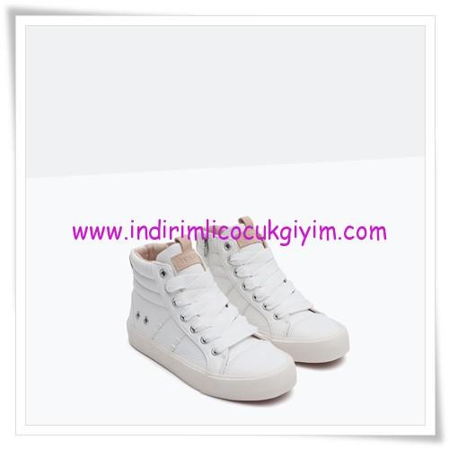 Zara kız çocuk beyaz yüksek konçlu sneaker-100 TL