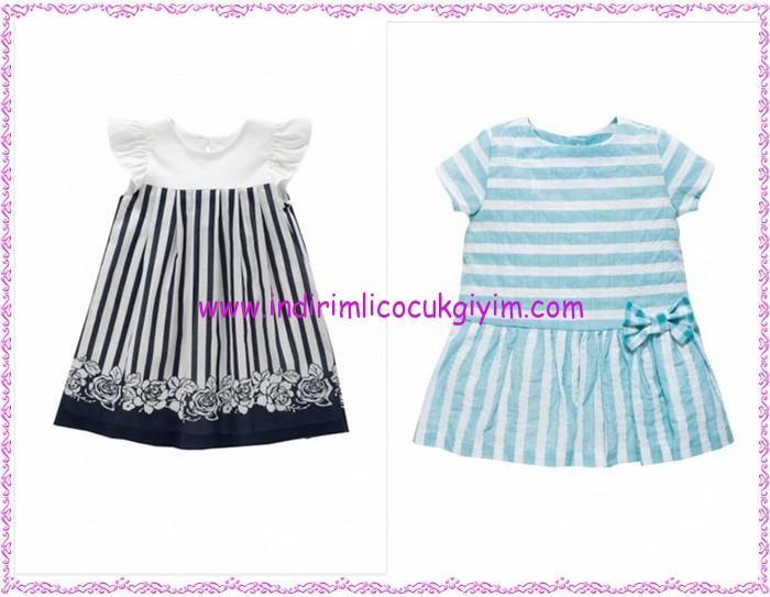Chicco çizgili kız çocuk elbiseleri