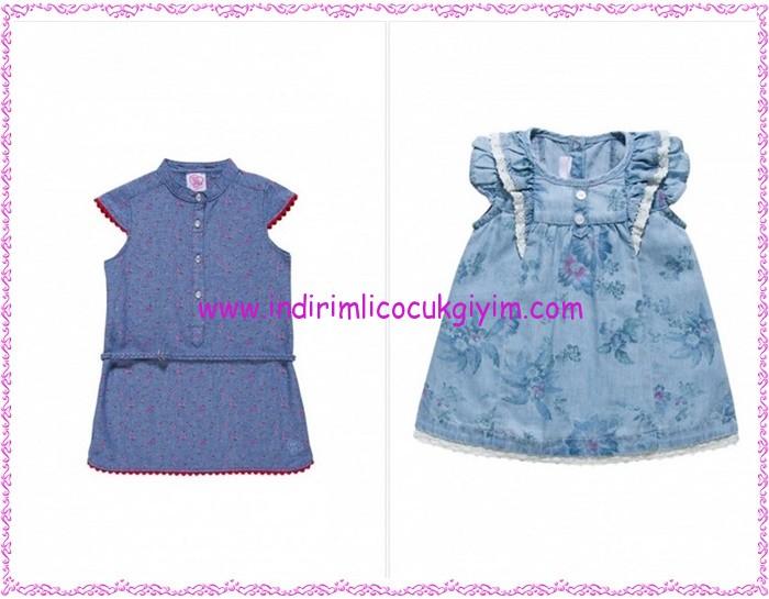 Chicco mavi kız çocuk elbiseleri