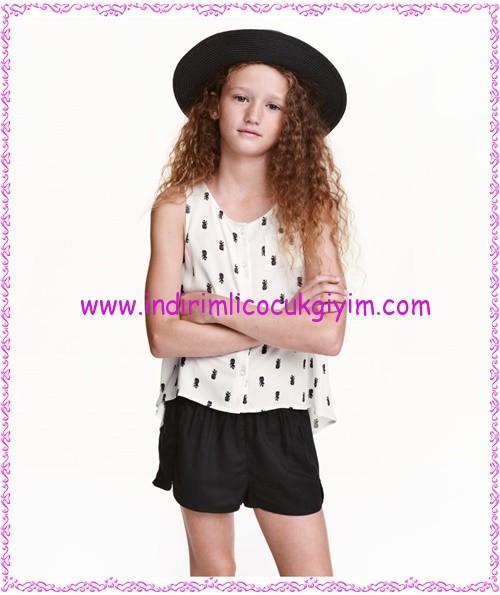 hm kız çocuk beyaz kolsuz bluz-30 TL