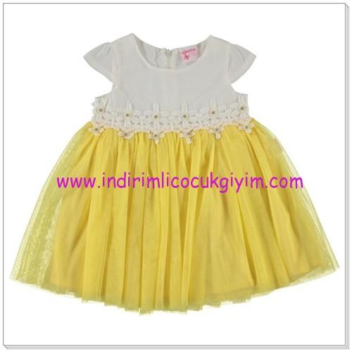 Civil kız çocuk sarı tül etekli elbise