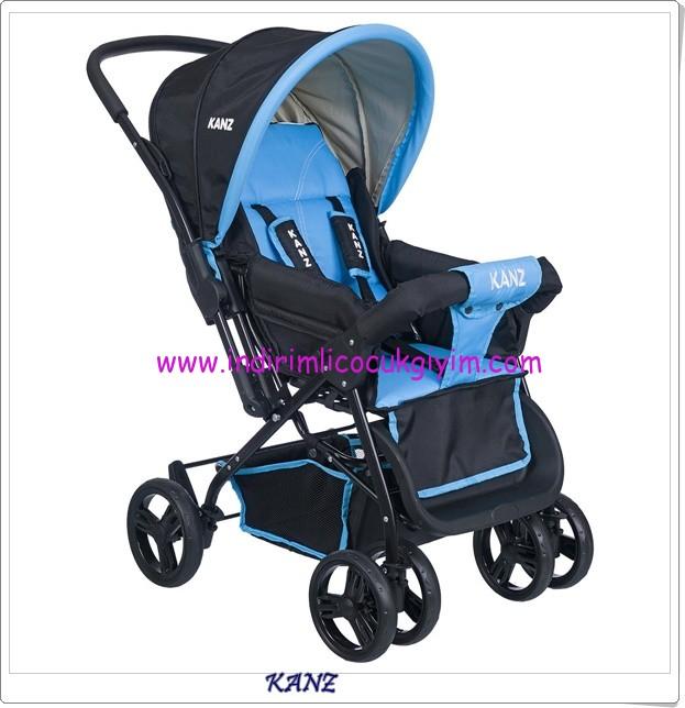 Kanz KZ-1005 Rainer çift yönlü mavi bebek arabası