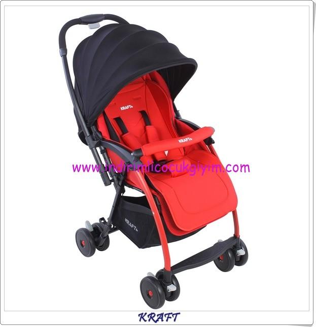 Kraft B F1 Pop kırmızı çift yönlü bebek arabası