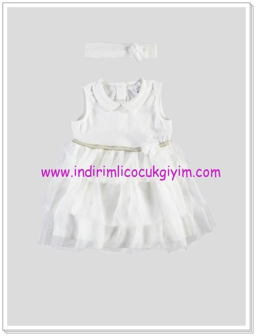 LCW kız bebek ekru tül etekli elbise-36 TL