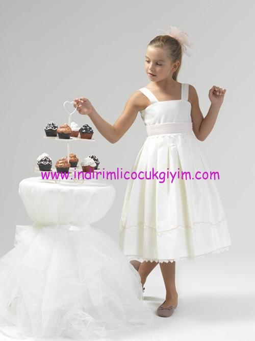 Little Fariy kız çocuk kalın askılı abiye elbise