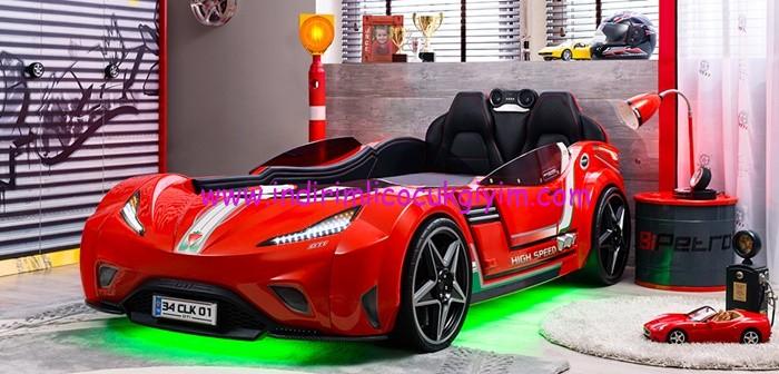 Çilek Mobilya kırmızı araba karyola