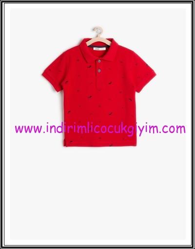 Koton erkek çocuk kırmızı polo yaka tişört
