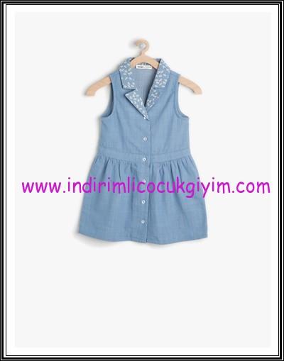 Koton kız çocuk denim elbise