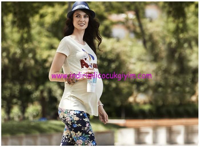 defacto-baskılı hamile tişörtleri