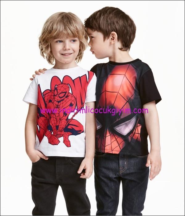 hm örümcek adamlı erkek çocuk tişörtü