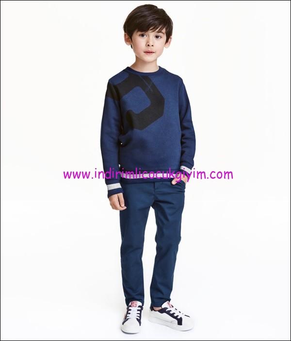 hm erkek çocuk lacivert chino pantolon