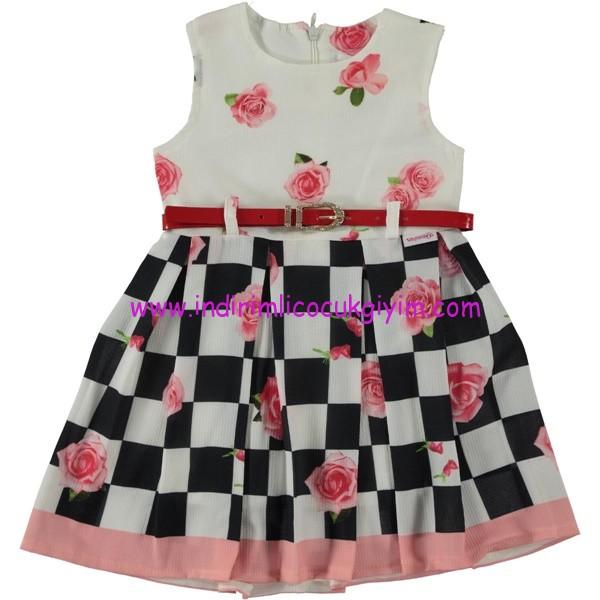 Civil 2-5 yaş çiçekli kolsuz elbise