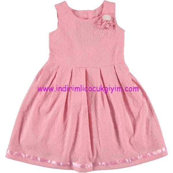 Civil 6-9 yaş kız çocuk pembe elbise