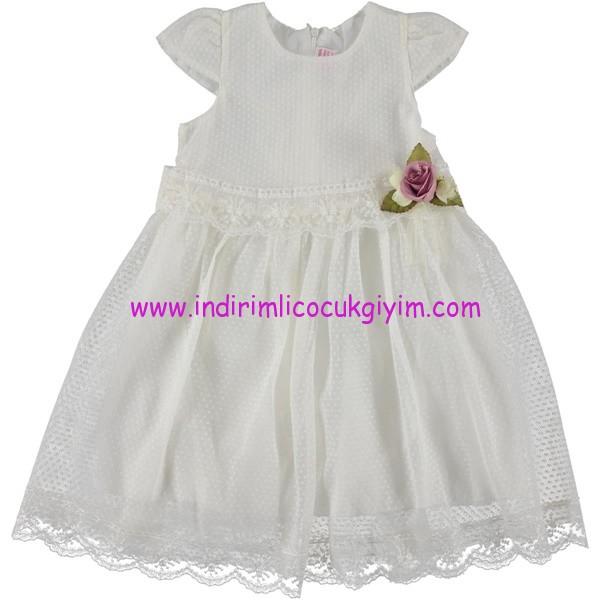 Civil kız çocuk ekru abiye elbise