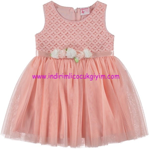 Civil kız çocuk yavruağzı abiye elbise