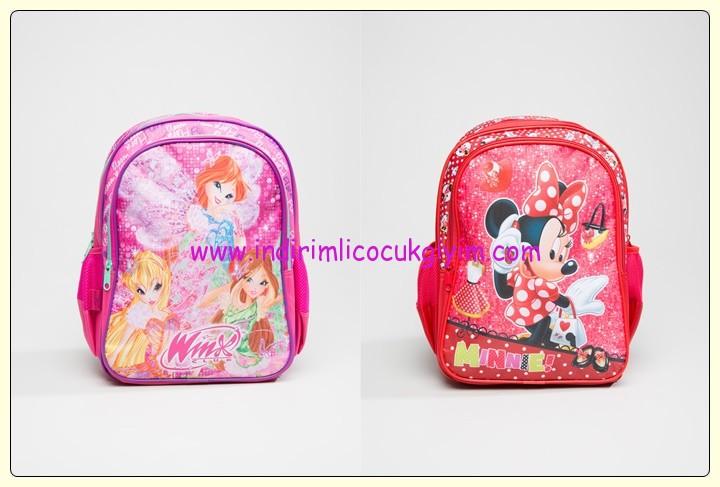 LCW kız çocuk çizgi karakterli sırt çantaları