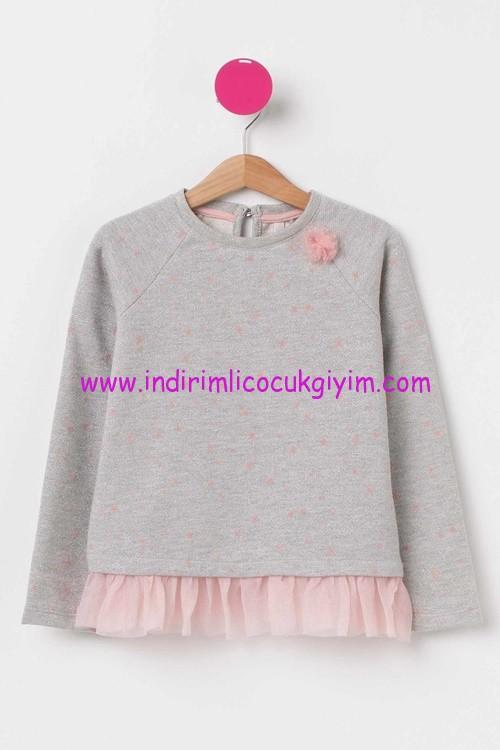 DeFacto kız çocuk gri sweatshirt