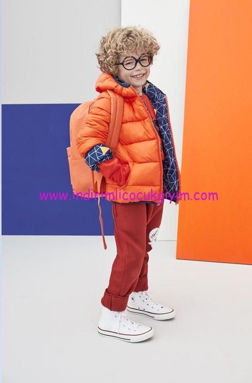 koton kids erkek çocuk turuncu mont