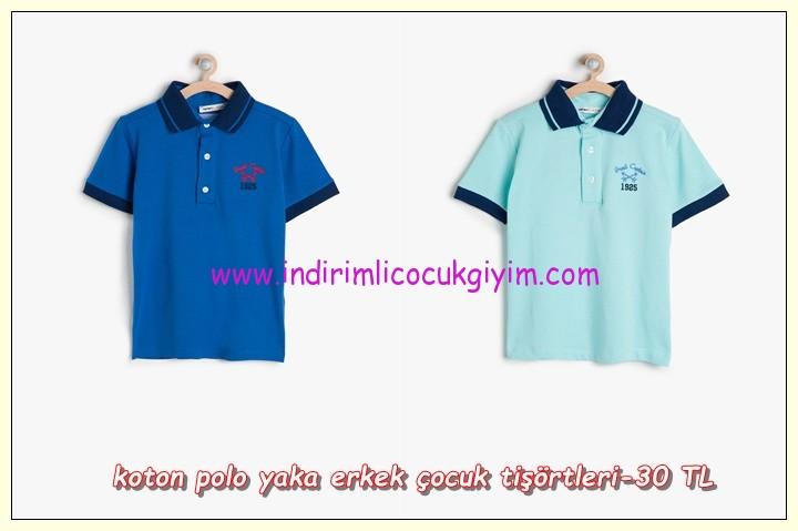 Koton polo yka erkek çocuk 23 nisan tişörtleri