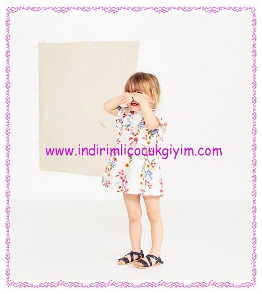 Zara kız bebek tropik desenli elbise-96 TL