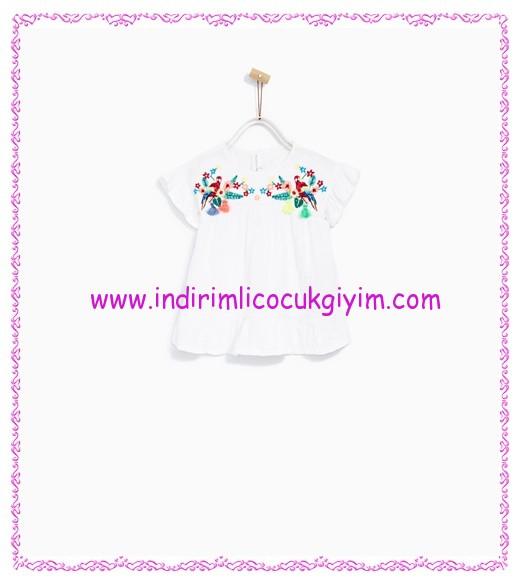 zara beyaz işlemeli kız bebek elbise-56 TL