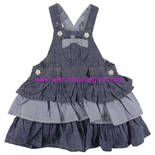 civil fırfırlı bebek kot elbise