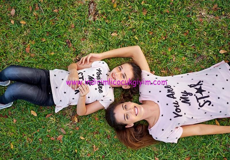 lcw-anne-kız sloganlı tişörtler