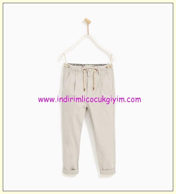 zara erkek çocuk gri chino pantolon