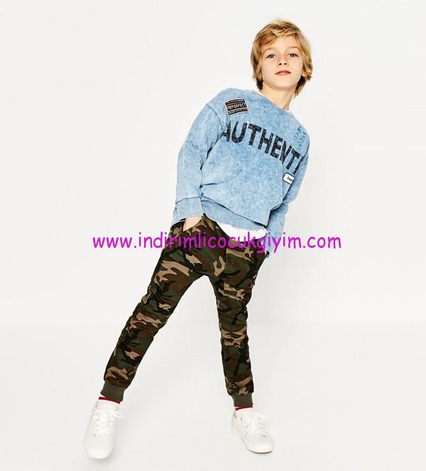 zara erkek çocuk kamuflaj jogging pantolonu