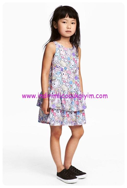 hm kız çocuk bayramlık elbise modelleri