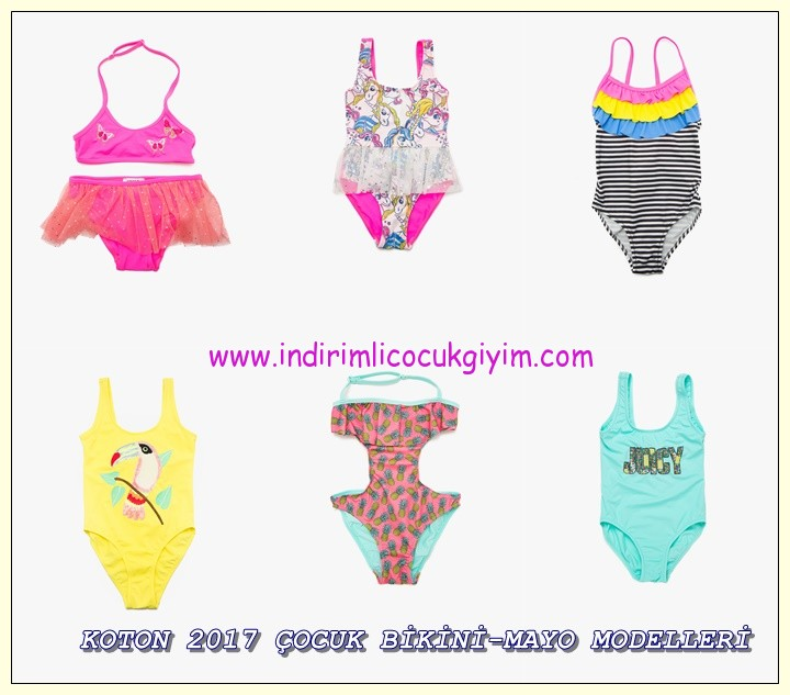 koton 2017 çocuk plaj giyim modelleri