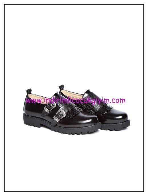 LCW kız çocuk siyah toka detaylı okul ayakkabısı-50 TL