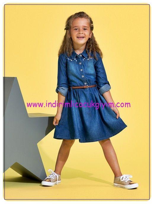 lcw-kız-çocuk-kemerli-denim-elbise