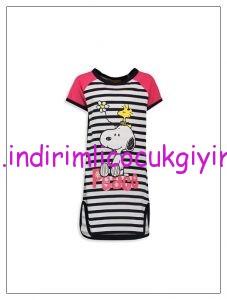 lcw-kız-çocuk-snoopy-baskılı-çizgili-elbise